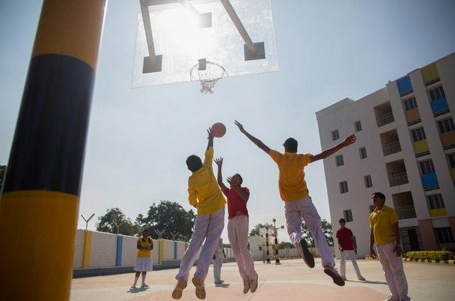 TIME School Basketball Court